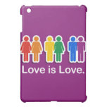 LOVE IS LOVE PURPLE COVER FOR THE iPad MINI