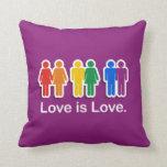 LOVE IS LOVE PURPLE PILLOW