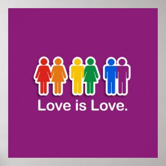 LOVE IS LOVE PURPLE PRINT