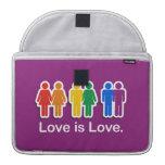 LOVE IS LOVE PURPLE SLEEVES FOR MacBook PRO