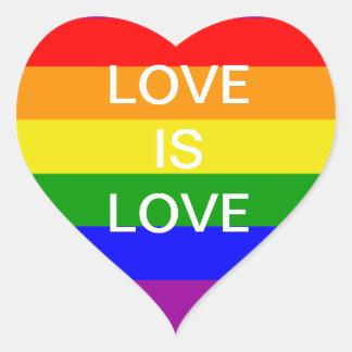 love is love Rainbow flag Heart Sticker