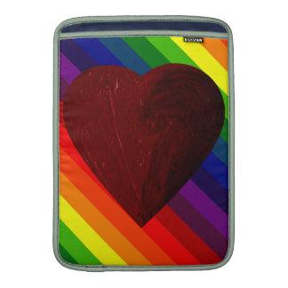 LOVE IS LOVE RAINBOW HEART ~~ MacBook AIR SLEEVES