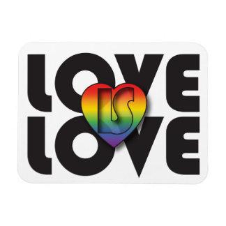 """Love Is Love"" Rainbow Heart Magnet"