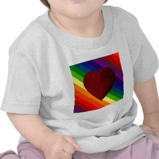 LOVE IS LOVE RAINBOW HEART ~ SHIRT