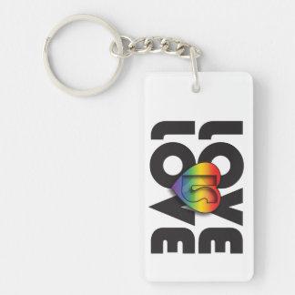 """Love Is Love"" Rainbow Keychain"