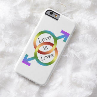 Love is Love Rainbow Male Gender Symbols Barely There iPhone 6 Case