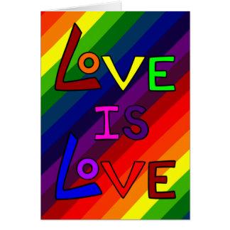 LOVE IS LOVE RAINBOW PERFECTION! ~~ GREETING CARD