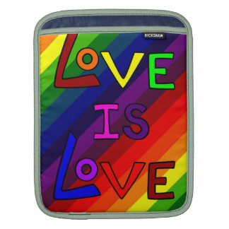 LOVE IS LOVE RAINBOW PERFECTION! ~~ iPad SLEEVE