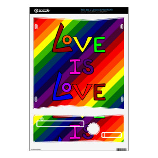 LOVE IS LOVE RAINBOW PERFECTION! ~~ SKINS FOR THE XBOX 360 S