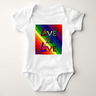 LOVE IS LOVE RAINBOW TILE ~ BABY BODYSUIT