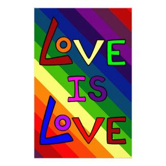 LOVE IS LOVE RAINBOW TILE ~ STATIONERY