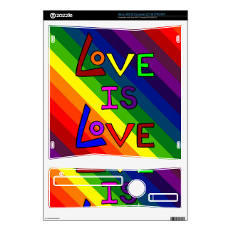 LOVE IS LOVE RAINBOW TILE ~ XBOX 360 S DECAL