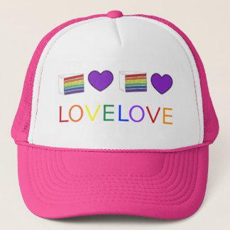 Love is Love Rainbow Wedding Heart Cake Gay Pride Trucker Hat
