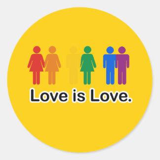 Love is Love. Round Stickers