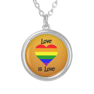 Love Is Love Silver Plated Necklace