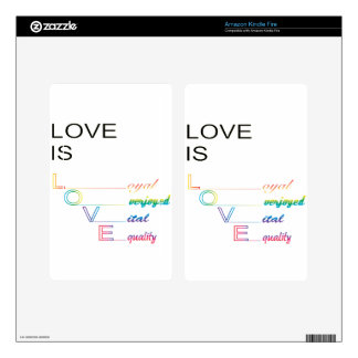 Love Is Love Kindle Fire Decal