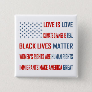 Love is Love Square Button
