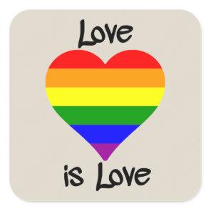 Love Is Love Square Sticker