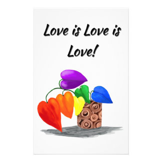 Love is love stationery