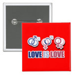 LOVE IS LOVE SYMBOLS -.png Pinback Buttons