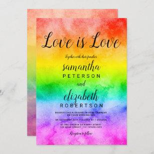 Two Chicks Same Sex Lesbian Personalized Wedding Invitation