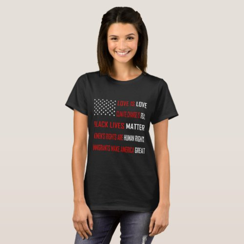 Love is Love Womenâs Basic Dark T_Shirt