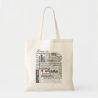 Love Is Love, Words Matter Tote Bag