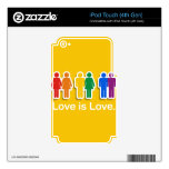 LOVE IS LOVE YELLOW.png Decal For iPod Touch 4G