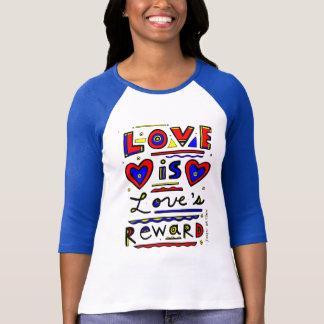 """Love is Love's Reward"" Women's 3/4 Sleeve Raglan T-Shirt"