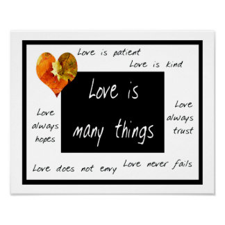 Love is many things poster