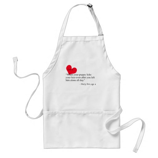 LOVE IS - MARY ANN AGE 4 ADULT APRON