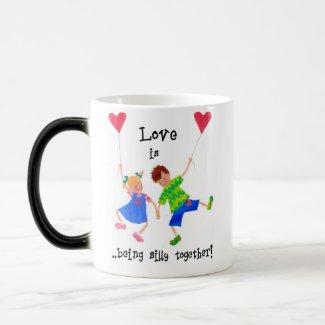 'Love is...' Morphing Mug mug