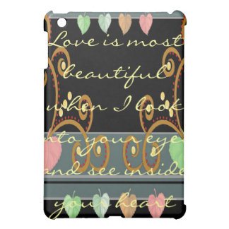 Love Is Most Beautiful iPad Case