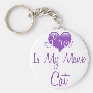 Love is my Manx Cat Basic Round Button Keychain