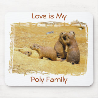 Love is My Poly Family Mouse Pad