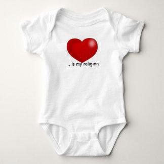Love is my religion onies baby bodysuit