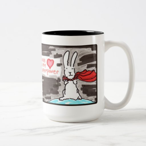 Love is my superpower mugs