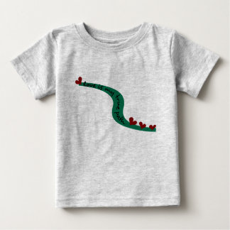Love Is My True Path With Winding Path & Hearts Baby T-Shirt