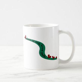 Love Is My True Path With Winding Path & Hearts Coffee Mug