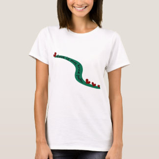 Love Is My True Path With Winding Path & Hearts T-Shirt