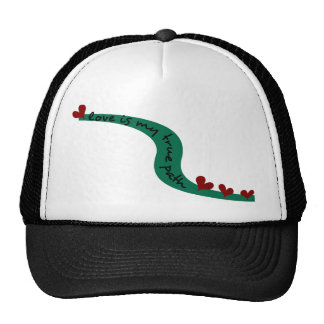 Love Is My True Path With Winding Path & Hearts Trucker Hat