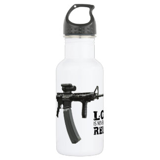 Love is Never Having To Reload AR-15 18oz Water Bottle