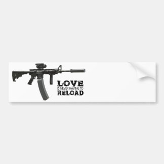 Love is Never Having To Reload AR-15 Bumper Sticker