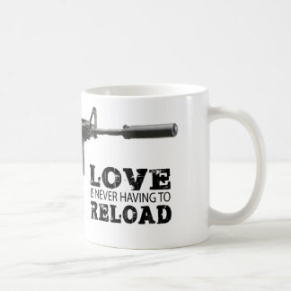 Love is Never Having To Reload AR-15 Coffee Mug