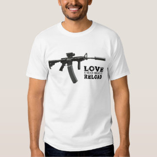 Love is Never Having To Reload AR-15 T-Shirt