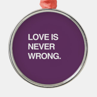 LOVE IS NEVER WRONG CHRISTMAS ORNAMENT