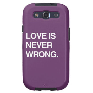 LOVE IS NEVER WRONG GALAXY S3 CASE