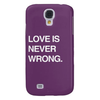 LOVE IS NEVER WRONG GALAXY S4 CASES
