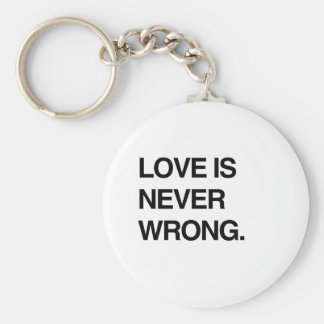 LOVE IS NEVER WRONG KEY CHAIN