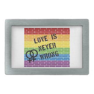 love is never wrong lesbian belt buckle